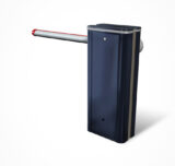 blue boom barrier painted RAL-5011 colour