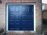 garage door blue colour ral 5011