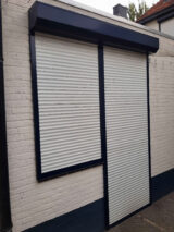 protective blinds painted blue RAL-5011