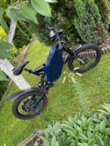 steel blue painted bike frame ral-5011