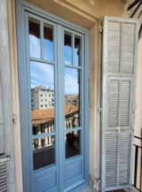 ral-7001 silver grey window door