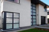 aluminium facade details RAL-7021 colour
