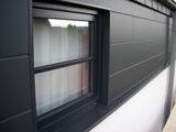 Black-grey RAL-7021-facade