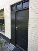 black grey door painted RAL-7021 colour