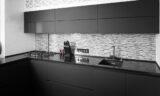 dark kitchen ral-7021 black grey