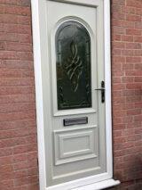 front door painted ral-7032