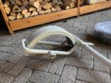 spraypainted metal parts ral pebble grey colour-7032