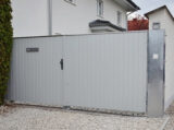 ral light grey metal gate