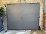 metal door painted ral-7037 dusty grey colour
