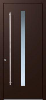 alumaflat door chocolate brown ral-8017
