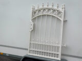 fence painted ral 9001 cream white