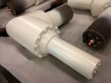 spraypainted metal ral cream colour 9001