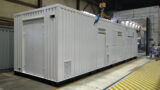 shipping container painted in RAL 9003