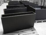 ral-9004 paint colour sample - black planters