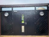 gate colour ral jet black 9005
