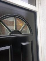 jet black front door