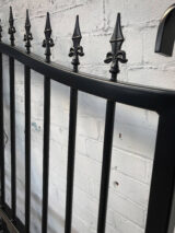 RAL-9005 painted fence