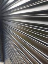 RAL9005 Jet Black protective blinds closeup