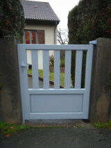 front gate painted with ral 9006 colour paint