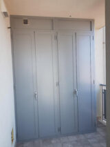 ral-9006 wardrobe paint finish