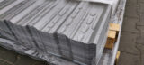 steel sheets painted RAL-9006
