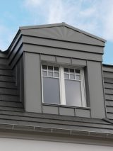 metal roof facade RAL 9007